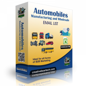 Automobiles Manufacturing and Wholesale Mailing Lists