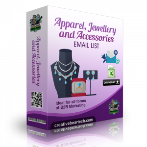 Apparel, Jewellery and Accessories Industry B2B Email Marketing List