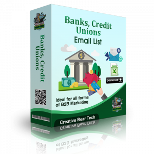 Banks, Credit Unions Email List B2B Data