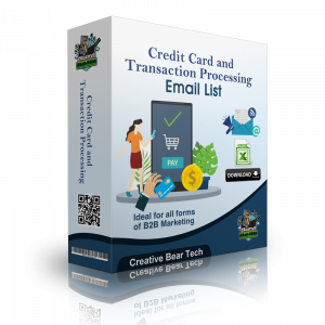 Credit Cards and Payment Processing Companies Email List