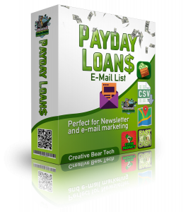 Payday Loans Email Lists and Mailing Lists for B2B Marketing