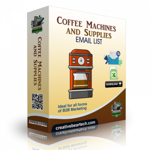 Coffee Machines and Supplies Email List B2B Data