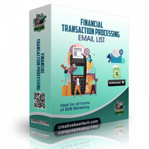 Financial Transaction Processing Mailing List B2B Sales Leads