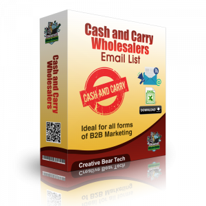 Cash and Carry Wholesalers Mailing List and B2B Database