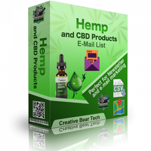 Hemp and CBD Products Email List and Business Marketing Data