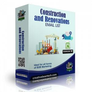 Construction and Renovations Email List and B2B Sales Leads