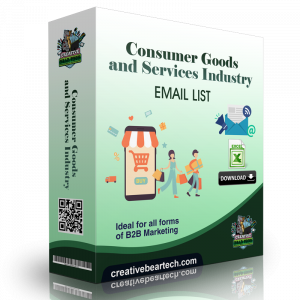 Consumer Goods and Services Industry Email List and B2B Marketing Data