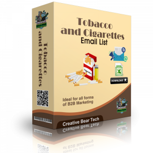 Tobacco and Cigarettes Email List and B2B Marketing Data