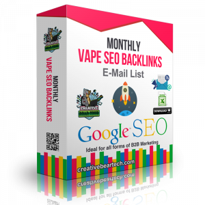 Monthly Vape SEO Backlinks Package for Vape Shops