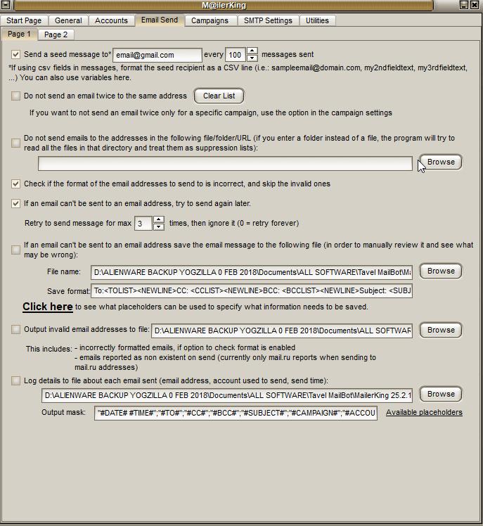 3 - Mailer King Bulk Email Sender - Email Send - Page 1