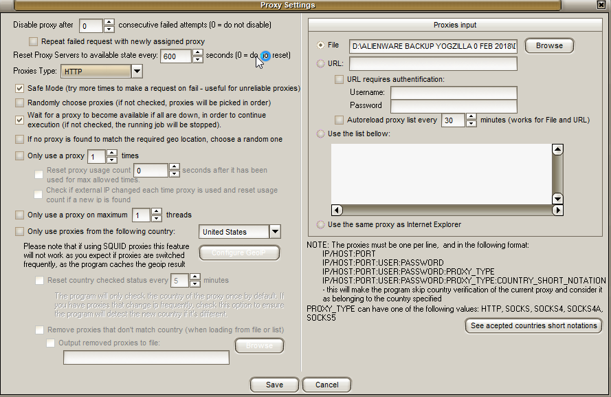 1 - Mailer King Bulk Email Sender - General - Connection - Proxy Settings