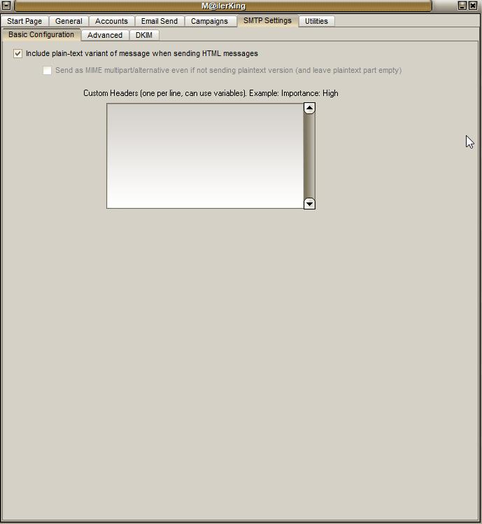 5 - Mailer King Mass Email Sender - SMTP Settings - Basic Configuration