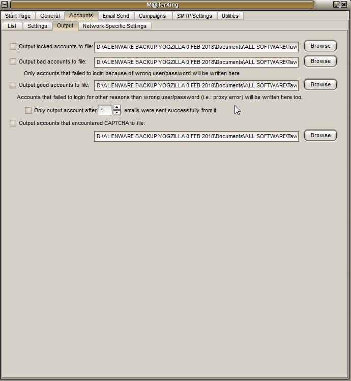 2 - Mailer King Bulk Email Sender - Accounts - Output