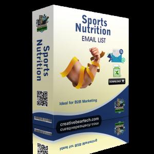Sports Nutrition Industry B2B Marketing List