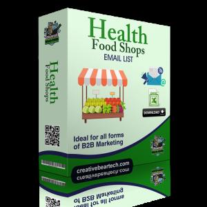 Health Food Shops Email List - B2B Mailing List of Health Shops