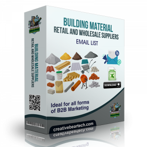 Building Material Retail and Wholesale Suppliers B2B Marketing List