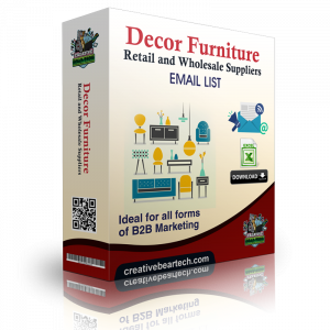 Decor & Furniture Retail and Wholesale Suppliers B2B Mailing List