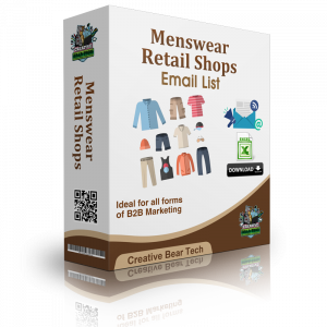 Menswear Retail Shops Email List - Database & Mailing List with Emails