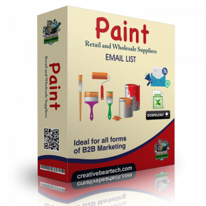 Paint Retail and Wholesale Suppliers B2B Email List