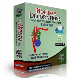 Holiday Decorations Retail and Wholesale Suppliers B2B Email List