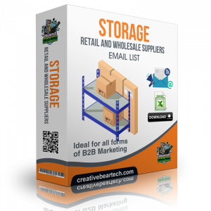 Storage Retail and Wholesale Suppliers B2B Data List