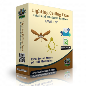 Lighting & Ceiling Fans Retail and Wholesale Suppliers B2B Email List