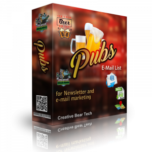 Pubs Email List - B2B Database with a List of Pubs and Email Addresses