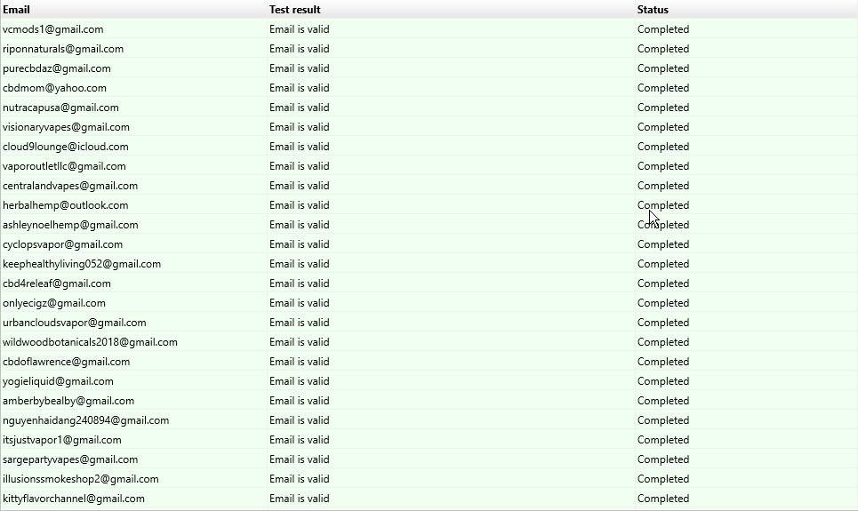 Global Vape Company Email List of Vape Shops and Vape Wholesalers and E-Liquid Distributors
